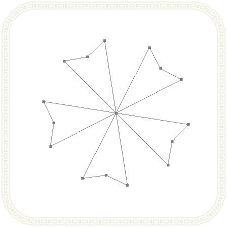 #d40083のブラシでパスの境界線を描く
